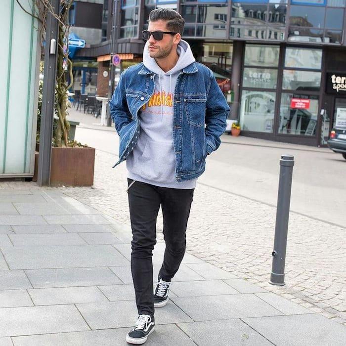 les mecs comment porter une veste en jean avec style la mode c 39 est vous les derni res. Black Bedroom Furniture Sets. Home Design Ideas