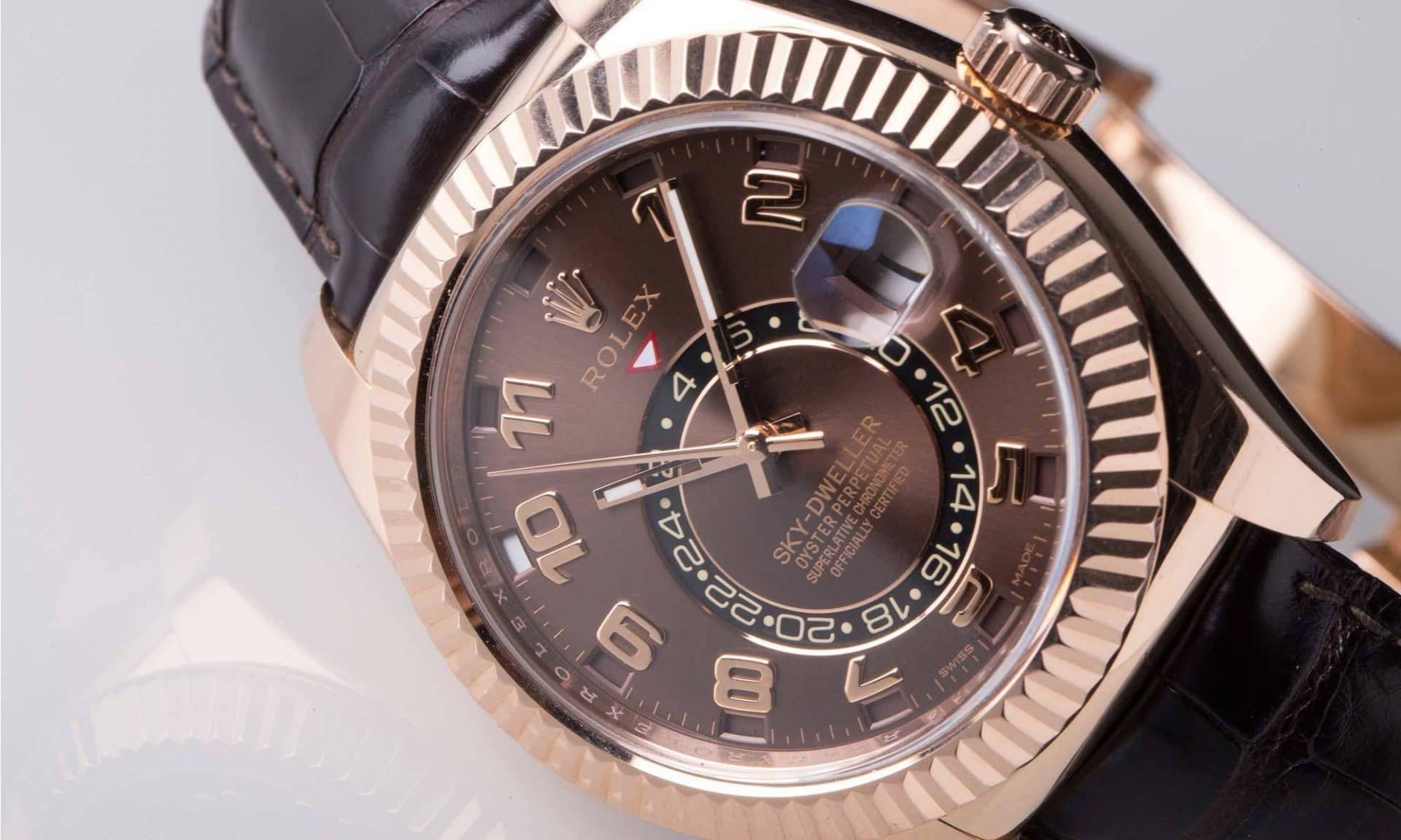 Rolex Sky Dweller Brown