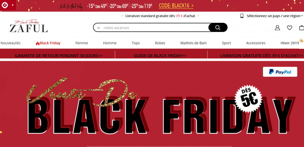 Le Black Friday sur Zaful : ce qu'il faut shopper