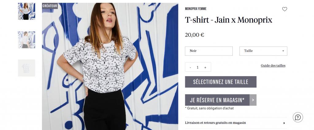 Monoprix vend des articles de mode