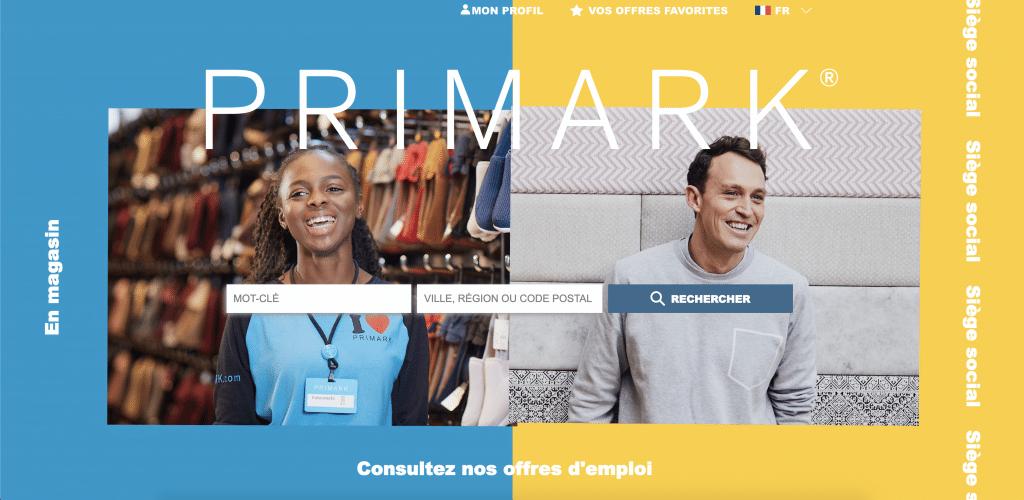 le site internet carrière de primark