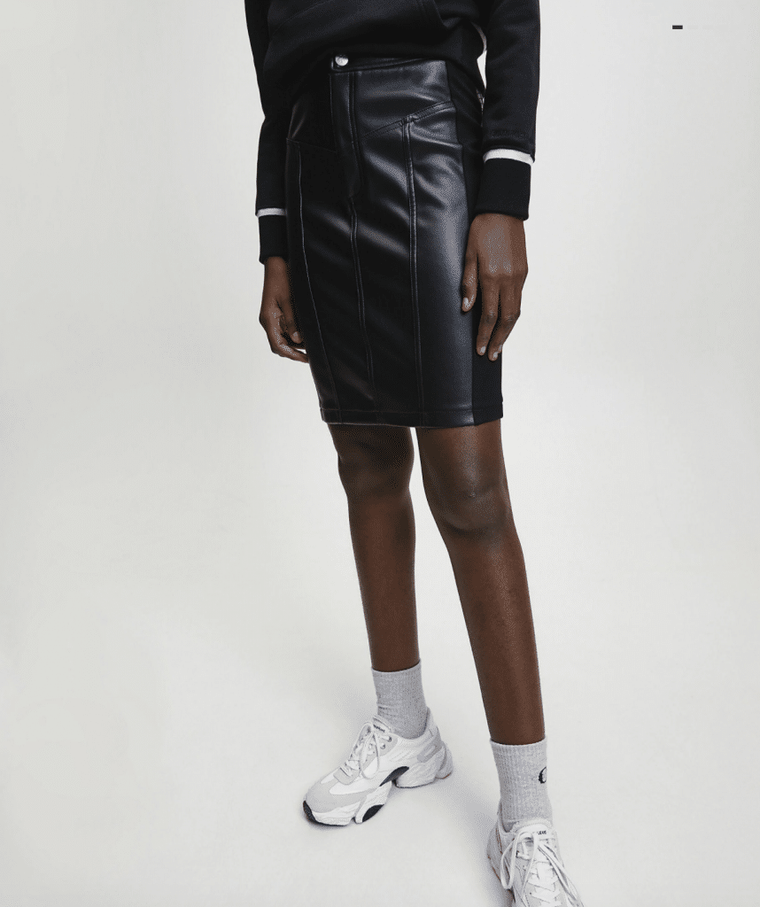 jupe crayon en cuir original et tendance