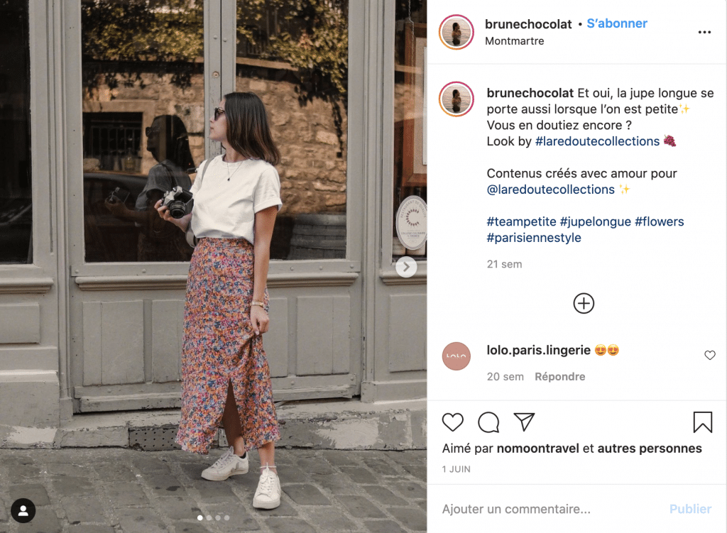 brunechocolat jupe longue tendance