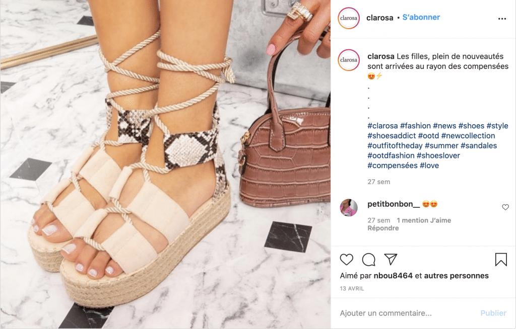 clarosa tendance sandale motif crocodile