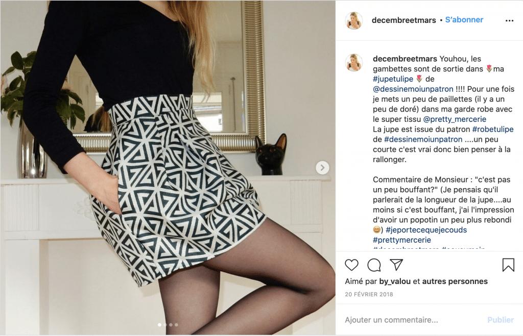 Decembreetmars tendnace jupe haute