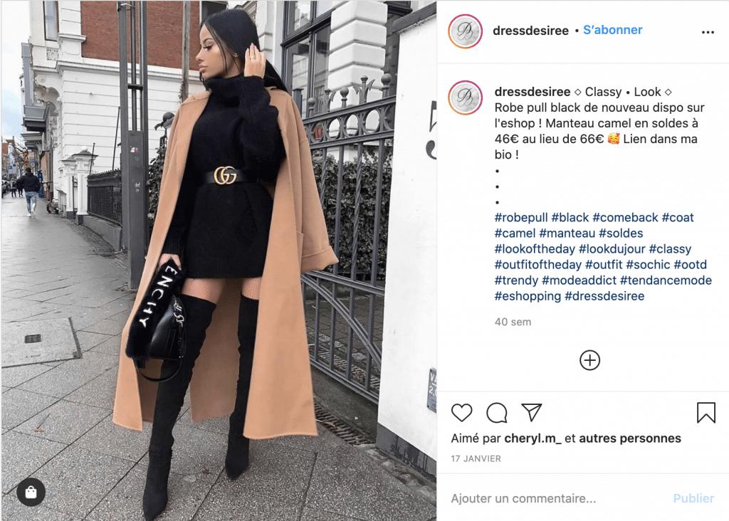 Robedesiree robe pull tendance noire