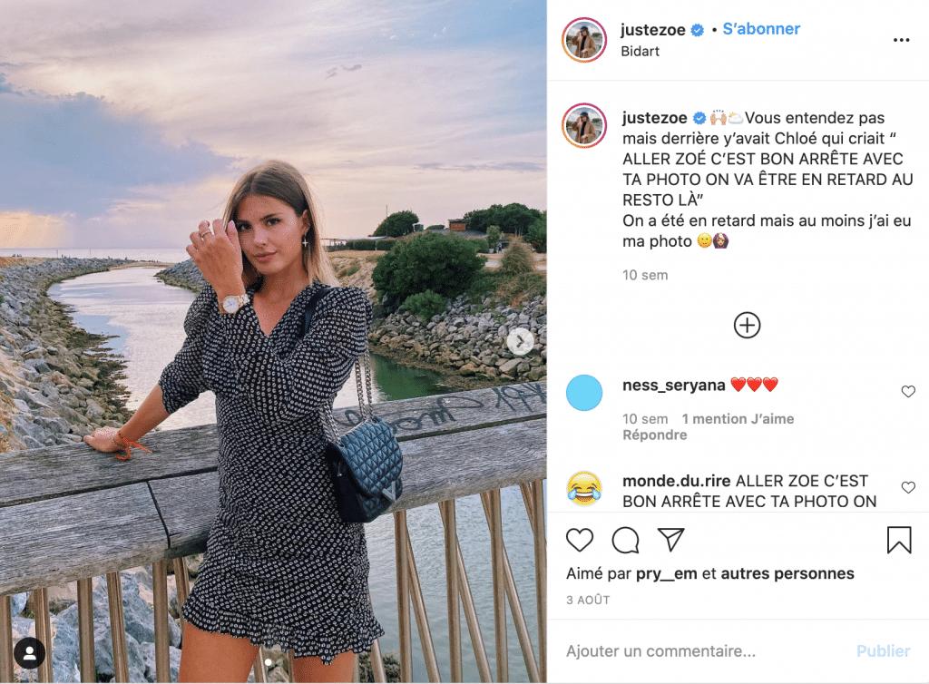 JusteZoe robe courte tendance à motif