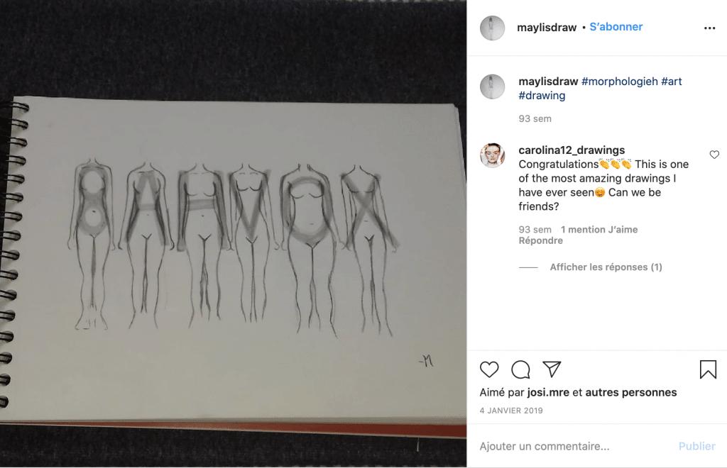Maylisdraw morphologies femme