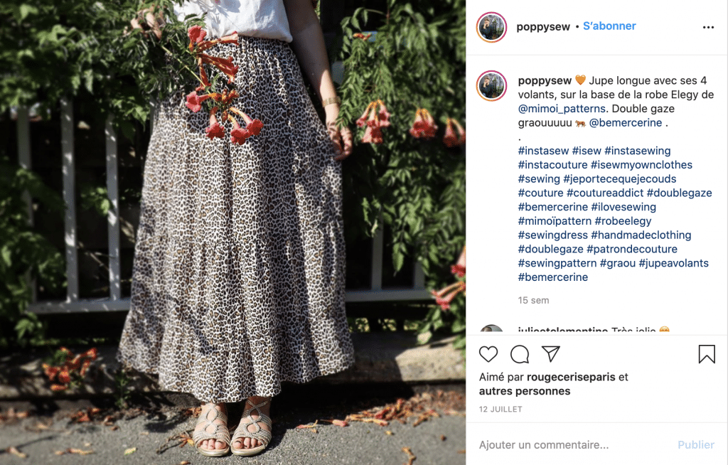 Poppysew tendance jupe longue
