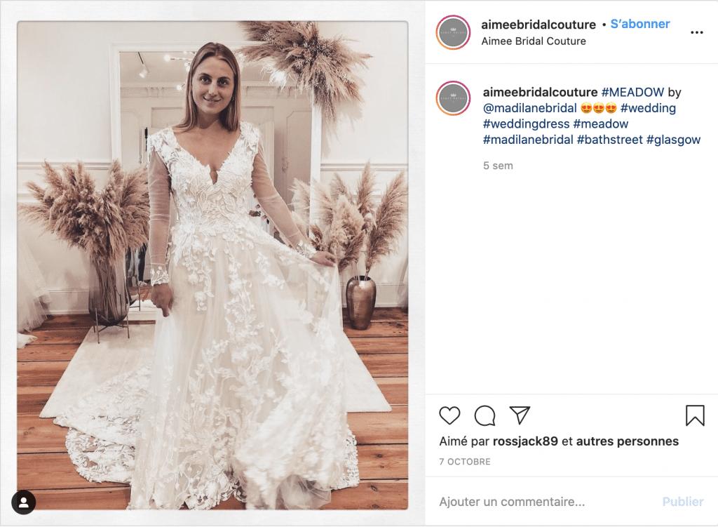 Aimee Bridal Couture robe de mariée tendance
