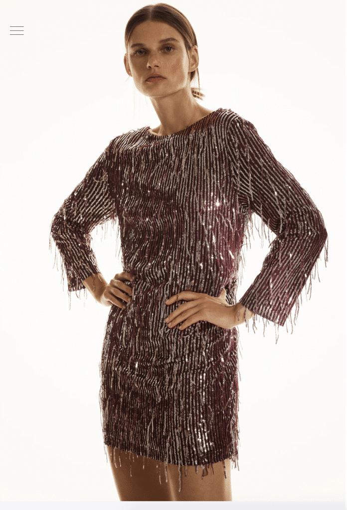 Zara commande de robe de soirée en ligne