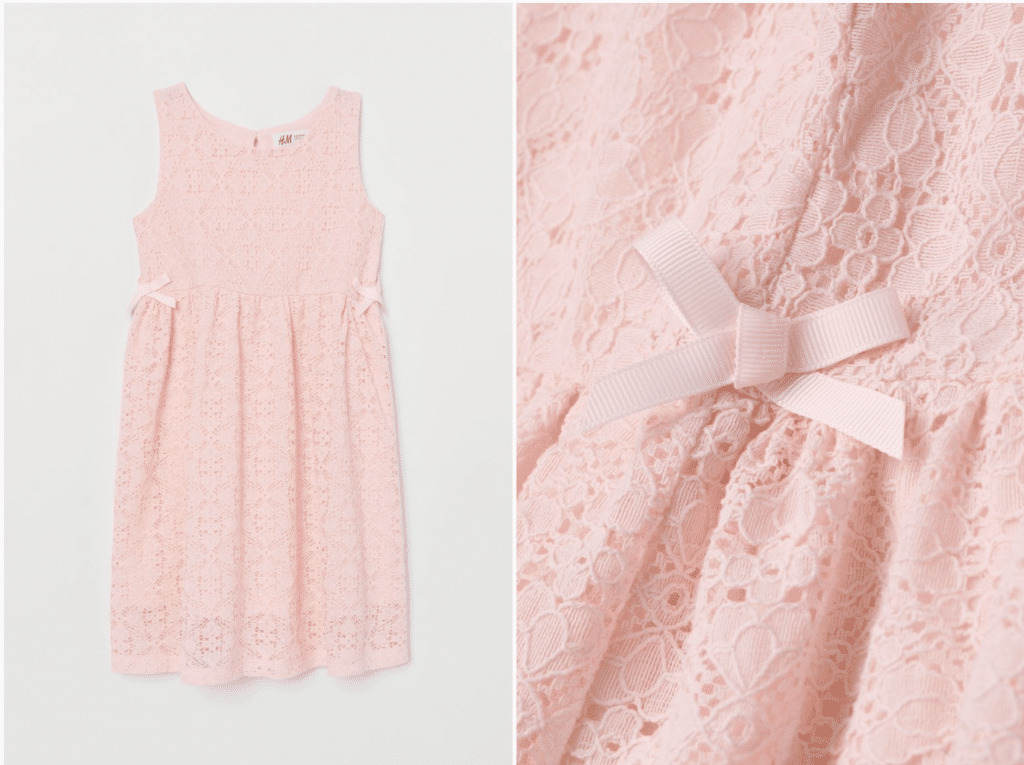 H&M robe fille 8 ans dentelle robe à noeuds