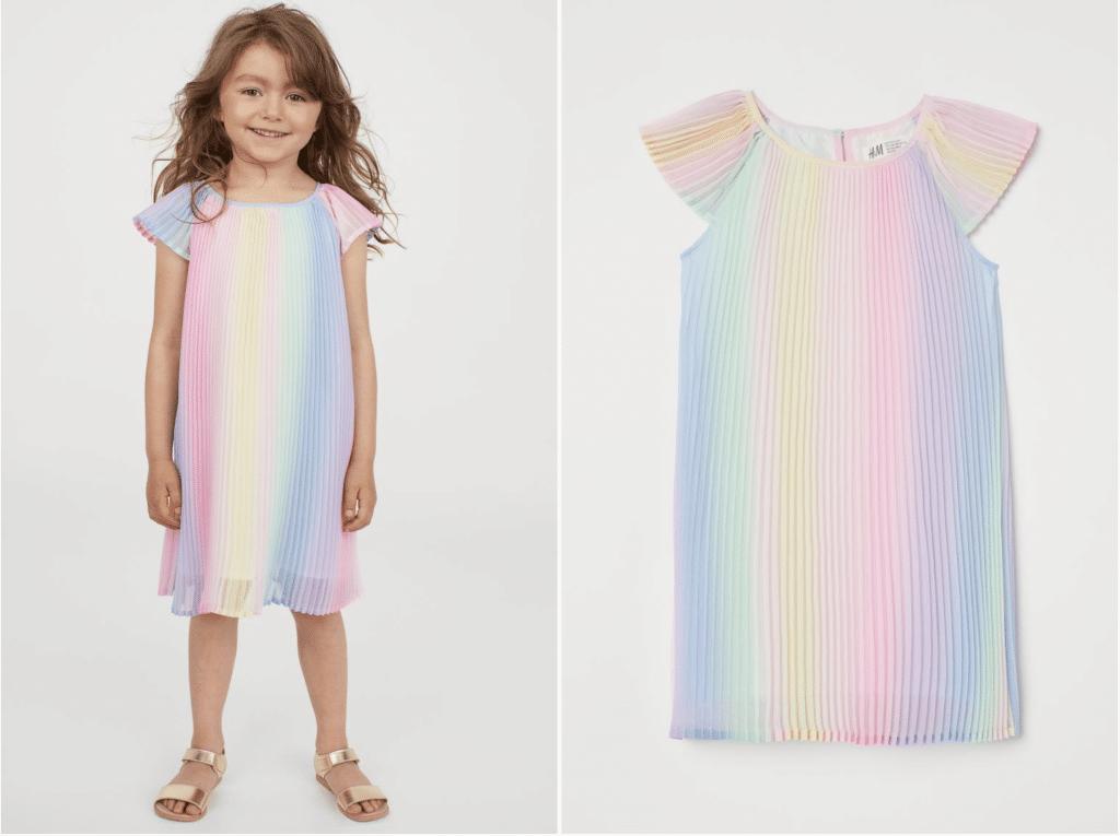 H&M robe de petite fille fluide multicolore