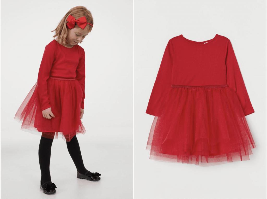robe soirée petite fille rouge