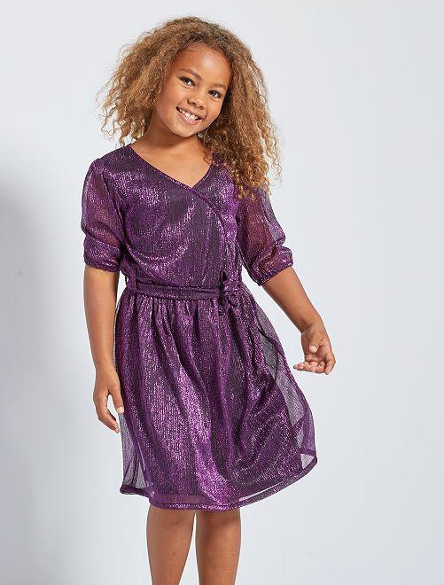 robe de soiree fille 6 ans violette