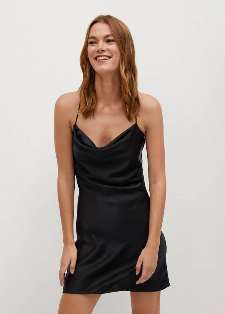 Mango robe de soirée courte et fluide à commander en ligne