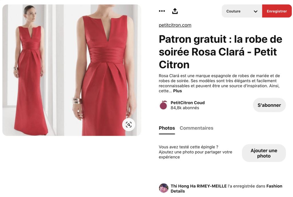 coudre une robe de soirée patron gratuit
