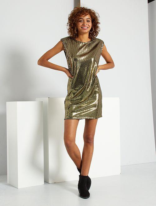 robe de soirée paillette Kiabi