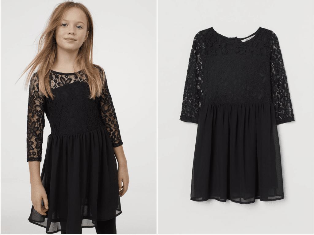 H&M robe fille 10 ans dentelle noire