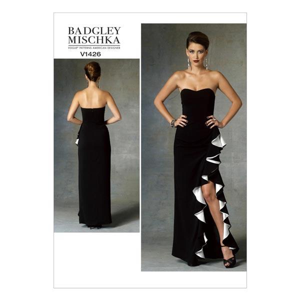 Tissus.net patron couture robe de soirée fendue
