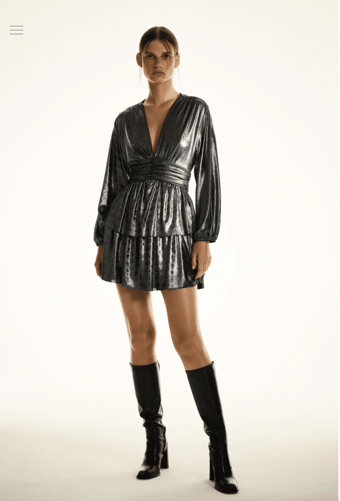 Zara robe de soirée à commander