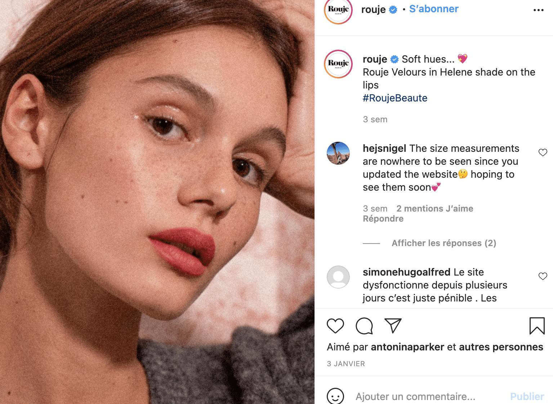 Rouje avis maquillage