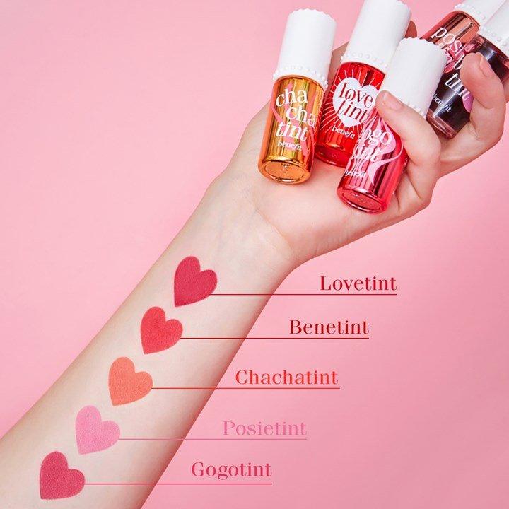 Les rouges à lèvres Benefit Cosmetics