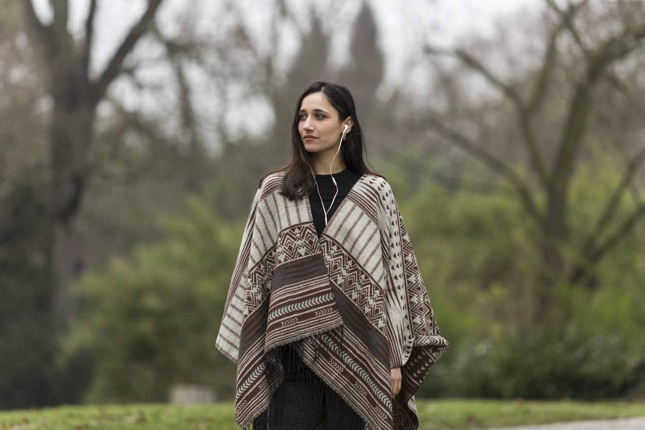 poncho femme printemps vêtement mi-saison