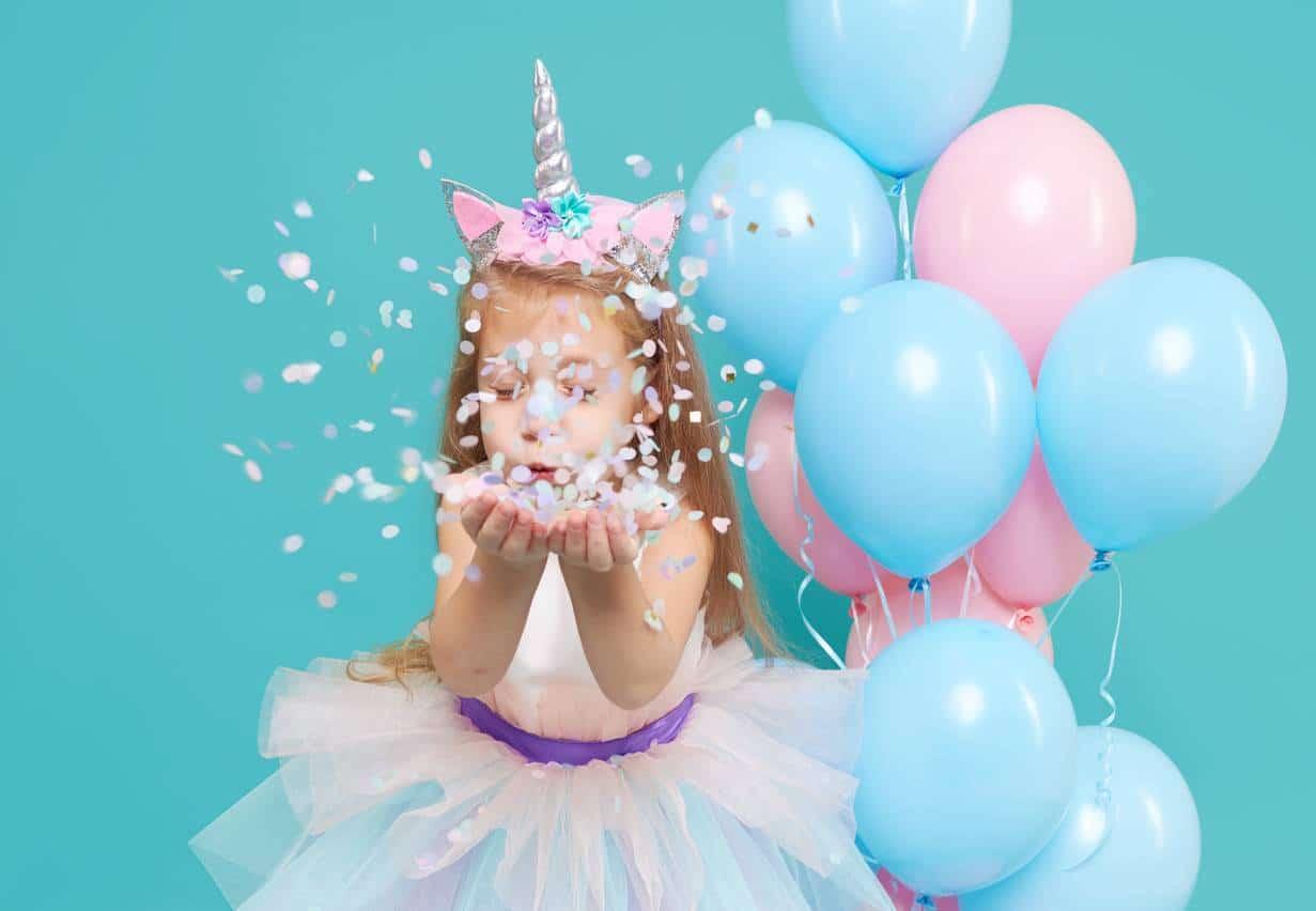 anniversaire enfant fille thème licorne décoration