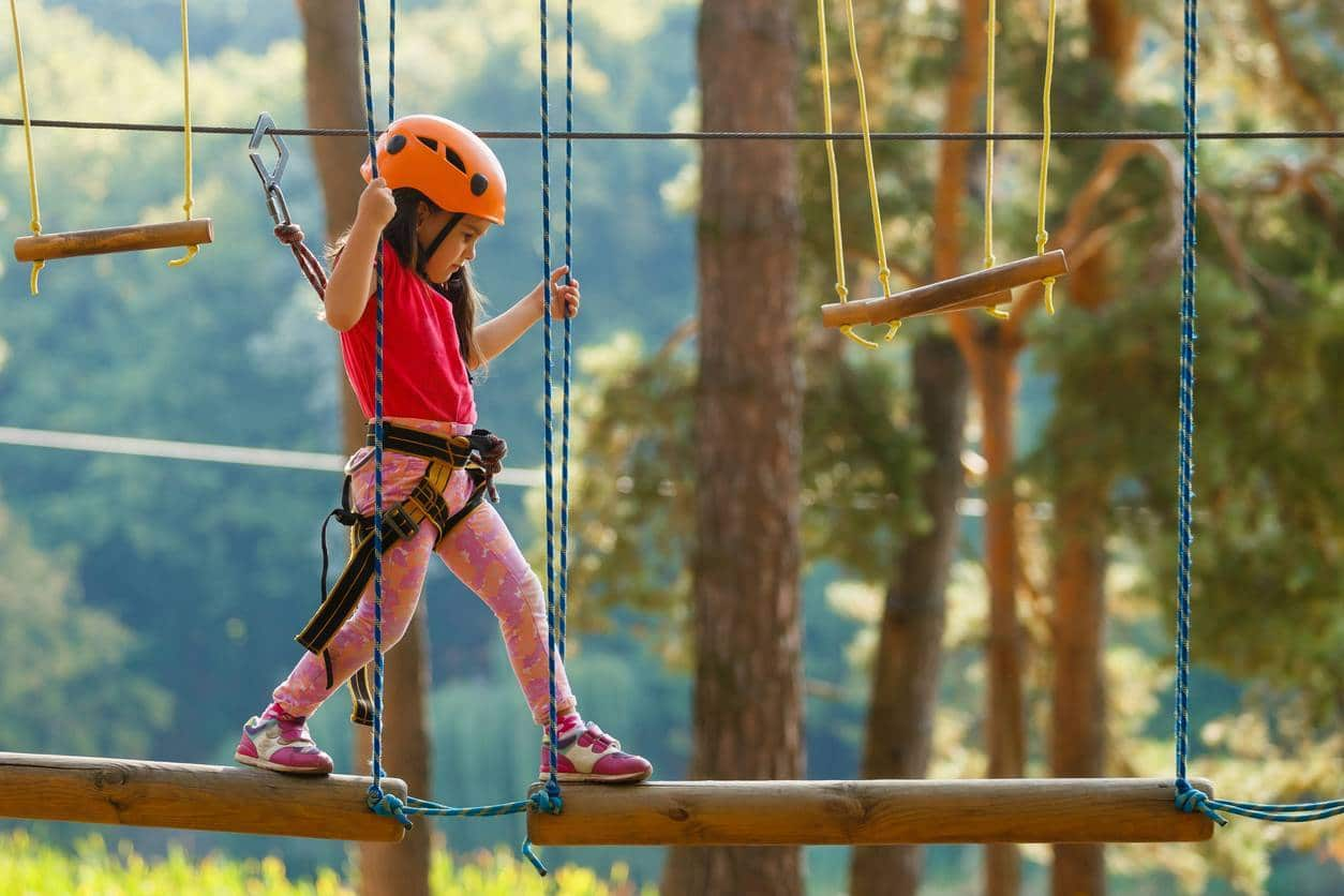 accrobranche parc aventure anniversaire enfant