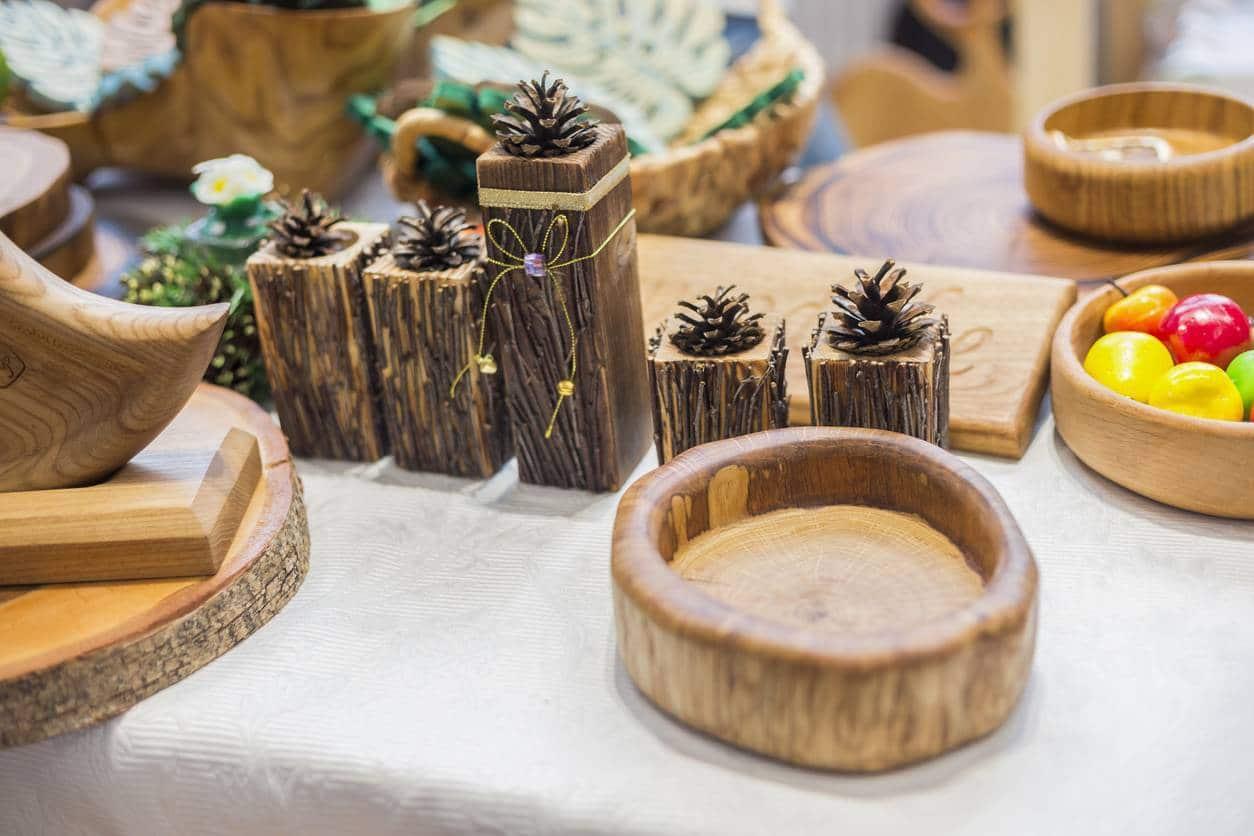 Bougeoir en bois