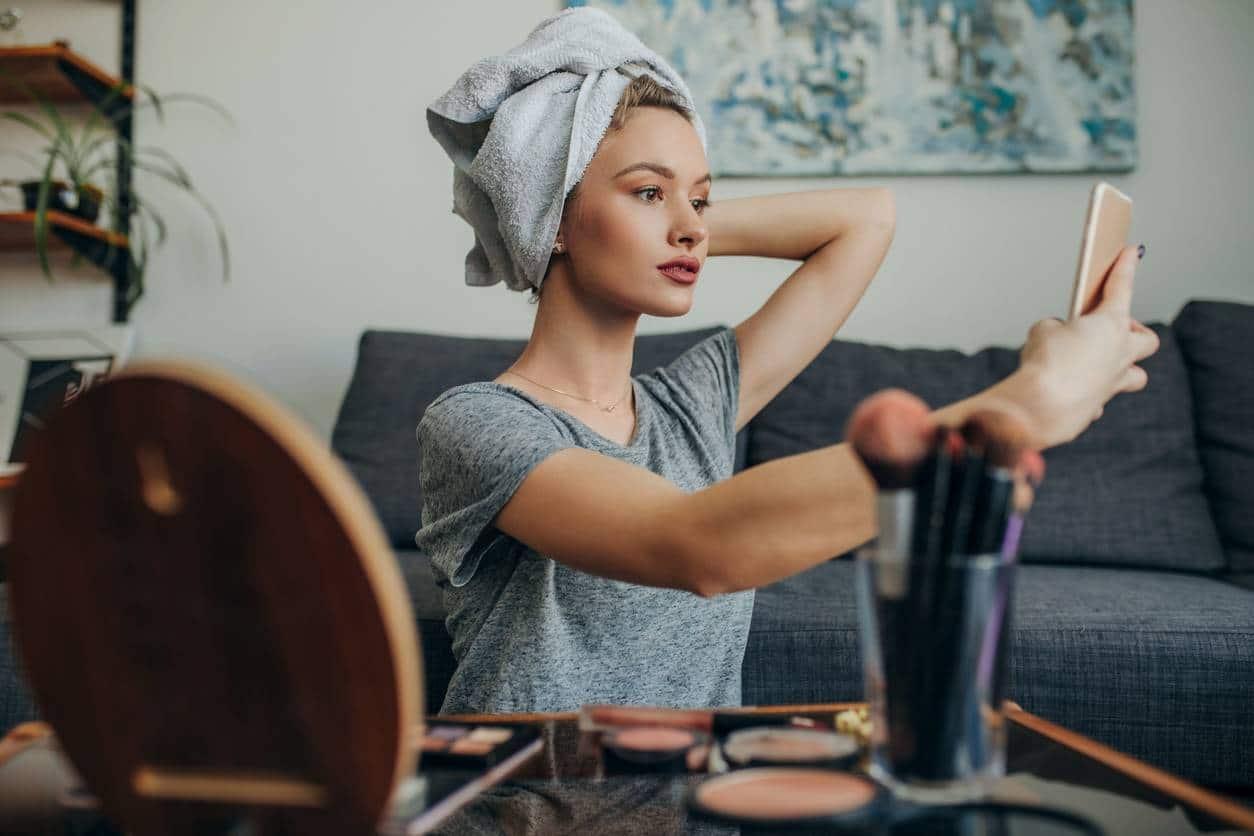 organisation du maquillage rangement make up