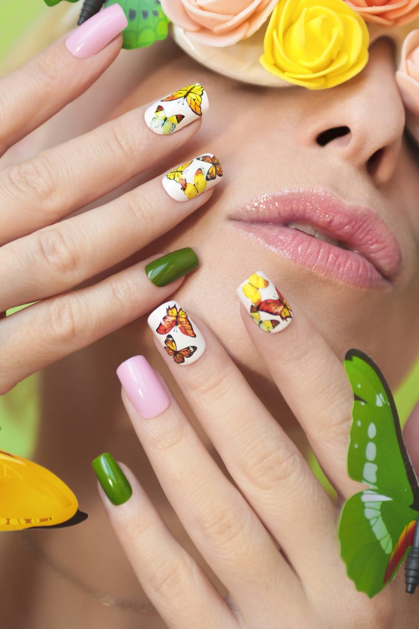 stickers pour ongles été